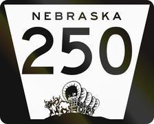 Nebraska Highway Route shield used in the US - stock illustration