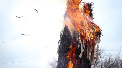 Burning Effigy Of Carnival Stock Footage