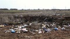 Garbage dump household waste - stock footage