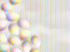 Easter eggs on paper background. EPS 10 - stock illustration