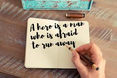Handwritten quote as inspirational concept image Stock Photos