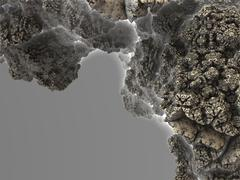 Part of mineral structure (rock), fragment of asteroid fractal Stock Illustration