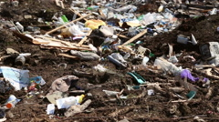 Garbage dump household waste Stock Footage