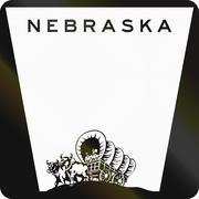 Blank Nebraska Highway Route shield used in the US - stock illustration