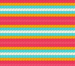 Seamless colorful pattern made of vivid round ornaments making row Stock Illustration