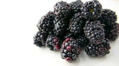 Blackberry Rotating on White Background Stock Footage