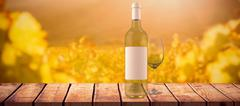 Composite image of white wine Stock Illustration