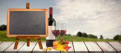 Composite image of red wine - stock illustration