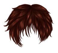 Anime brown hair - stock illustration