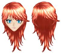 Anime girl with red hair Piirros