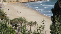 Beach of Tarragona in Catalonia, Spain - stock footage