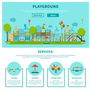 Outdoor Playground Illustration - stock illustration
