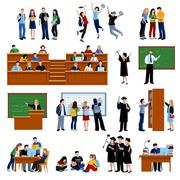 Students At The University - stock illustration