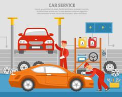Mechanical Services Of Car Stock Illustration