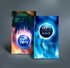 Night club colorful flyer templates. Vector illustration Stock Illustration