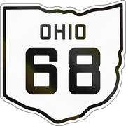 Historic Ohio Highway Route shield from 1927 used in the US - stock illustration