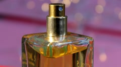 04 - Perfume - Cosmetics - Closeup - Contrasted - 02 - stock footage