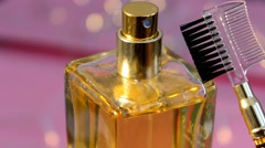 04 - Perfume - Cosmetics - Closeup - Contrasted - 03 - stock footage