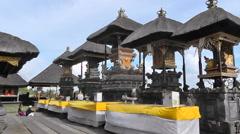 Praying before the altar,Besakih Temple,Bali - stock footage