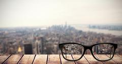 Composite image of reading glasses - stock illustration