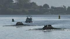 Row, Rowing, Crew, Shell, Regatta, Race - stock footage