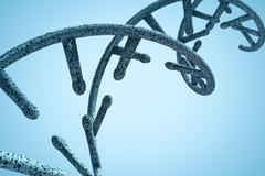 Composite image of image of dna helix - stock illustration