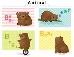 Animal background with Bears Stock Illustration