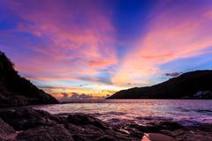 Stock Photo of Sunset at Nai Harn Beach, Phuket
