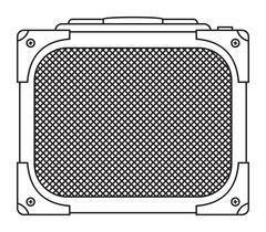 Classic Guitar Amplifier - stock illustration
