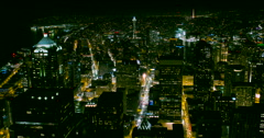 Seattle, Washington Downtown at Night Time-lapse of the Cityscape Lights - stock footage
