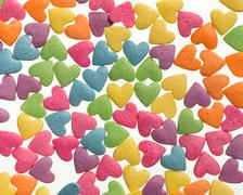Confectionery confetti for food decoration background - stock photo