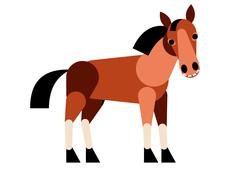Abstract horse isolated on white background. Vector illustration. Stock Illustration