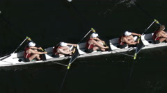 Row, Rowing, Crew, Shell, Regatta, Race Stock Footage