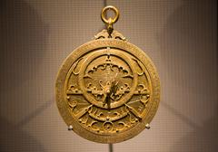 Old Arabic astrolabe - stock photo
