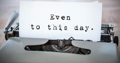 Composite image of a sentence - stock photo