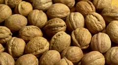 Bunch of Walnuts rotation - stock footage