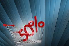 Composite image of online shopping concept - stock illustration