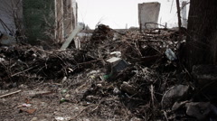 Slums, abandoned buildings 4 Stock Footage