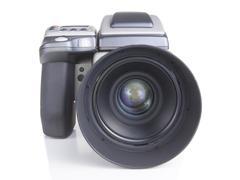 professional medium format proffesional digital camera - stock photo