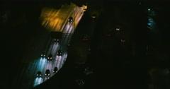 Interstate 5 Seattle, Washington Freeway at Night Rush Hour Traffic Time-lapse Stock Footage