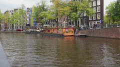 Amsterdam HouseBoat - stock footage