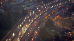 Seattle, Washington I5 Rush Hour Traffic From Above Stock Footage