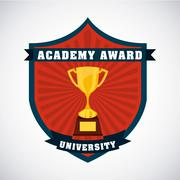 Academic award design Stock Illustration