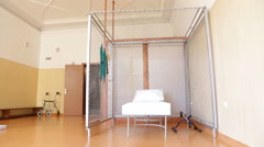 Rehabilitation centre room. Zoom out. - stock footage