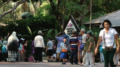 Tourists visit National Orchid Gardens in Singapore, Singapore. Stock Footage