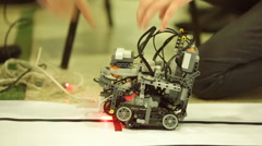 Self-made robot from Lego blocks Stock Footage
