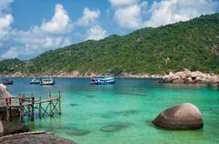 Ko Nangyuan islands in Thailand - stock photo