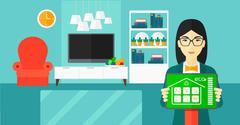 Smart home application - stock illustration