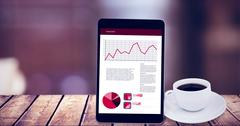 Composite image of tablet pc - stock illustration