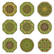Mandalas collection. Vintage decorative elements. Hand drawn background. Stock Illustration